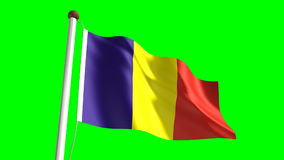 Romania flag stock video