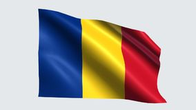 Romania flag with transparent background royalty free illustration