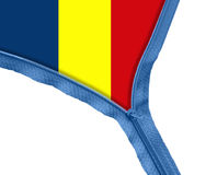 Romania flag under zipper Royalty Free Stock Photography