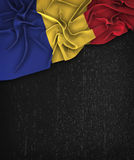 Romania Flag Vintage on a Grunge Black Chalkboard. With Space For Text Design Royalty Free Stock Photo