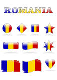 Romania flags button Royalty Free Stock Images