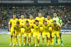 Romania football team Stock Image