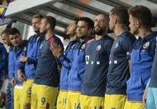 Romania Football Team substitutes Royalty Free Stock Photos