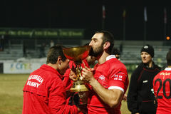 Romania-Georgia Rugby Royalty Free Stock Photography