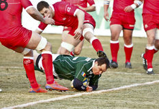 Romania-Georgia Rugby Stock Photos