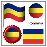 Romania graphic set Stock Photography