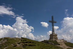 Romania Heroes Cross Monument stock photography