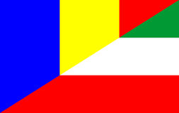 romania hungary flag Royalty Free Stock Photography