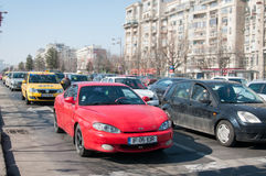 Romania independence route traffic Stock Photo