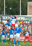Romania and Italy battle during IRB Nations Cup Royalty Free Stock Photo