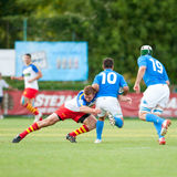 Romania and Italy battle during IRB Nations Cup Stock Photo