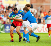 Romania and Italy battle during IRB Nations Cup Royalty Free Stock Photography