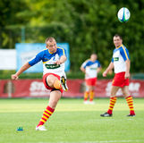 Romania and Italy battle during IRB Nations Cup Royalty Free Stock Image