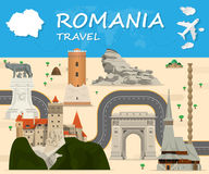 Romania Landmark Global Travel And Journey  background. Romania Landmark Global Travel And Journey Infographic background. Vector Design Template.used for your Royalty Free Stock Image