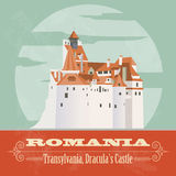 Romania landmarks. Retro styled image Stock Photos