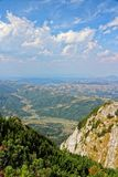 Romania landscape. Piatra Craiului National Park in Romania - view from Piatra Mica in Southern Carpathians stock images