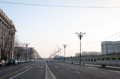 Romania Libertatii boulevard Stock Photo