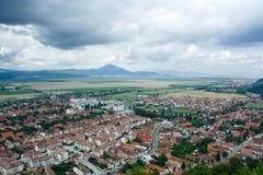 romania liten stad Arkivbilder