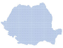 Romania map dots Stock Image