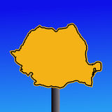 Romania map sign Stock Images