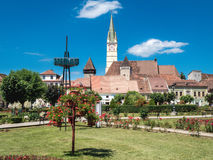 Romania Medias City old town square Royalty Free Stock Images