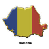 Romania metal pin badge Stock Photo