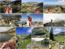 Romania, mountain collage in summer royalty free stock photos