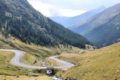 Romania mountain road Royalty Free Stock Photos