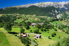 Romania, Mountain village. Magura is a scattered village in Piatra Craiului Mountains, renowned for it's traditional life and beautiful surroundings Royalty Free Stock Image