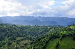 Romania mountains lansdcape , traditional village. Piatra craiului mountain landscape Romania Royalty Free Stock Photography