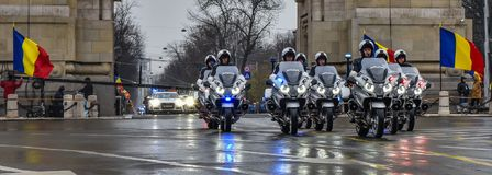 Romania National Day ,police moto