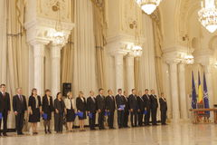 Romania New Government: Dacian Ciolos Cabinet Stock Photography