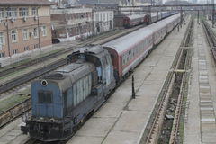 Romania passanger trains Stock Photos