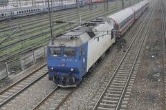 Romania passanger trains Royalty Free Stock Photo