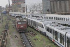 Romania passanger trains Royalty Free Stock Photos