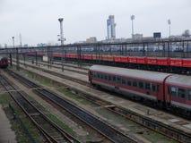 Romania passanger trains Stock Photo