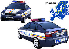 Romania Police Car. Colored Illustration from Series Euro police, Vector Stock Photography