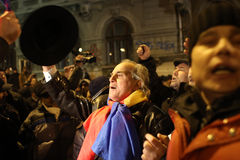 Romania Political Rally Stock Image