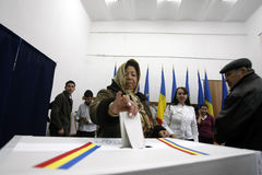 Romania presidential elections. Sunday, December 6, 2009. Romanians are voting for the presidential elections in Bucharest, Romania stock photo