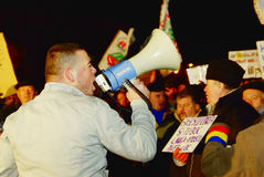 Romania protest Royalty Free Stock Photography