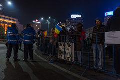 Romania protest, day 4 Stock Photography