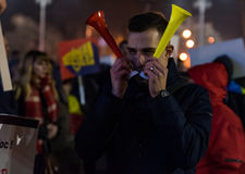 Romania protest, day 4 Royalty Free Stock Photography