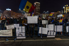 Romania protest, day 4 Stock Photos