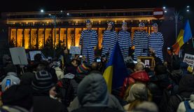 Romania protest, day 4 Stock Photo