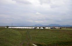 Romania refugee camp Stock Photography