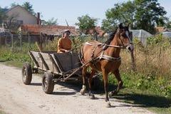 Romania road riding Stock Photo