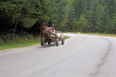 Romania road riding Stock Photography