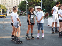 Romania on the Roller 2015 in Bucharest, Romania. Stock Photos