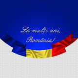Romania. Romanian flag. Romania. banner, brochure, card with the national flag and `la multi ani` text for the great union Romanian day Royalty Free Stock Image