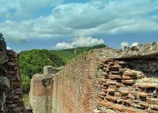Romania, ruins castle of Dracula. Vlad the Impaler also known as Poenari Citadel stock image